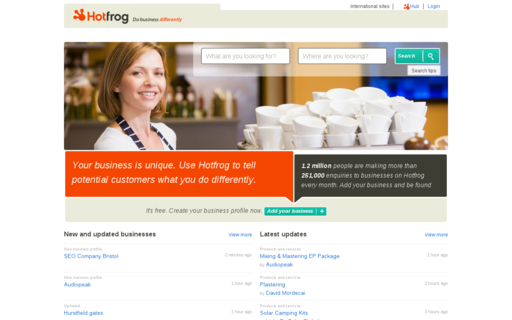 Access hotfrog.co.uk using Hola Unblocker web proxy