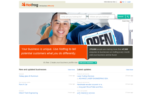 Access hotfrog.com.my using Hola Unblocker web proxy