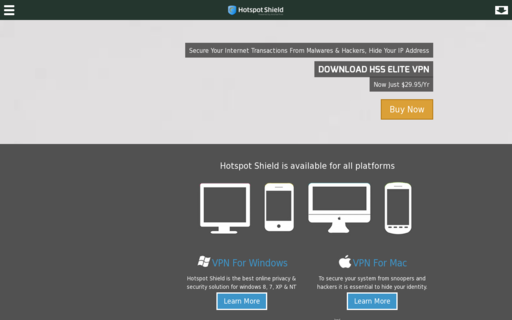 Access hotspotshieldelite.com using Hola Unblocker web proxy