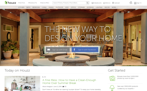 Access houzz.com using Hola Unblocker web proxy
