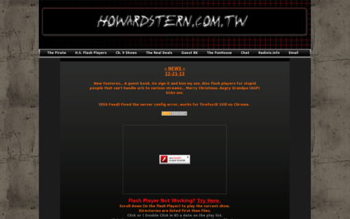 Access howardstern.com.tw using Hola Unblocker web proxy