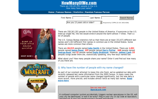 Access howmanyofme.com using Hola Unblocker web proxy