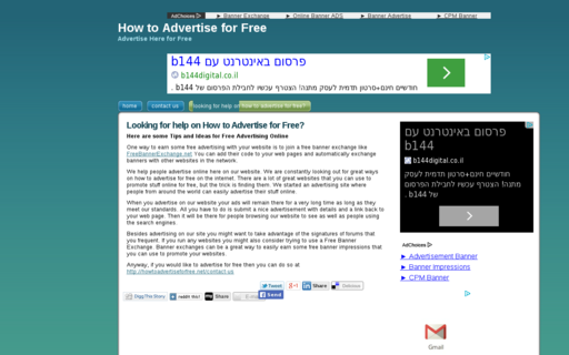 Access howtoadvertiseforfree.net using Hola Unblocker web proxy
