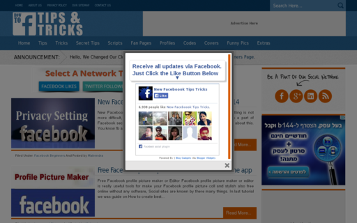 Access howtofacebooktipstricks.com using Hola Unblocker web proxy