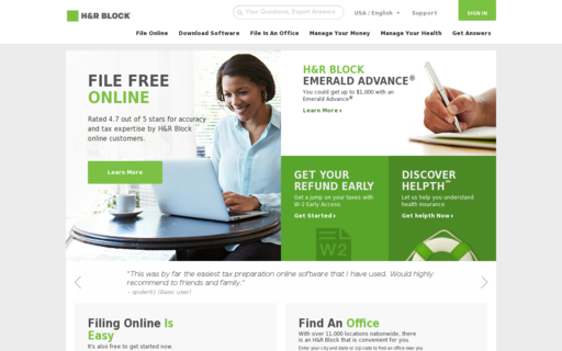 Access hrblock.com using Hola Unblocker web proxy
