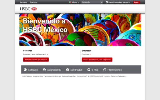 Access hsbc.com.mx using Hola Unblocker web proxy