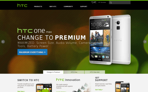 Access htc.com using Hola Unblocker web proxy