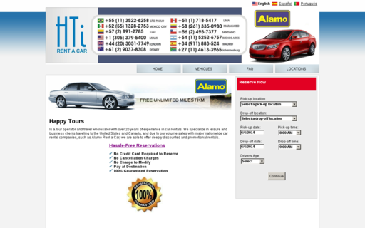 Access htirentacar.com using Hola Unblocker web proxy