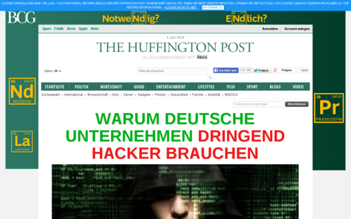 Access huffingtonpost.de using Hola Unblocker web proxy