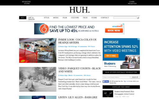Access huhmagazine.co.uk using Hola Unblocker web proxy