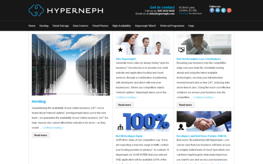 Access hyperneph.com using Hola Unblocker web proxy