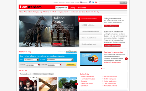 Access iamsterdam.com using Hola Unblocker web proxy