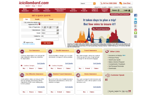 Access icicilombard.com using Hola Unblocker web proxy