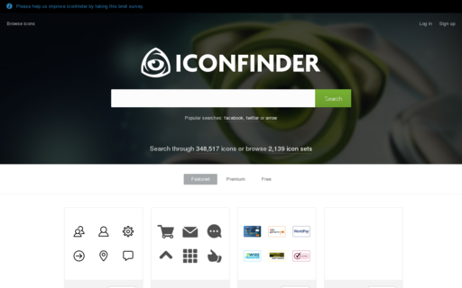 Access iconfinder.com using Hola Unblocker web proxy