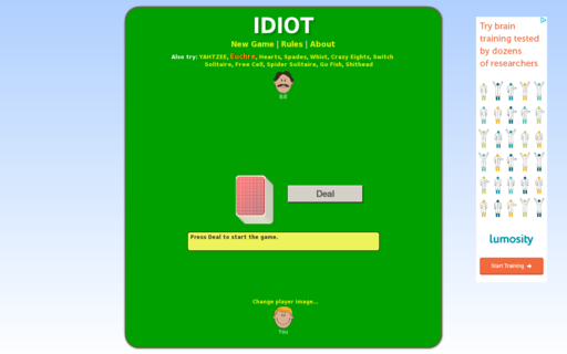 Access idiot-cardgame.com using Hola Unblocker web proxy