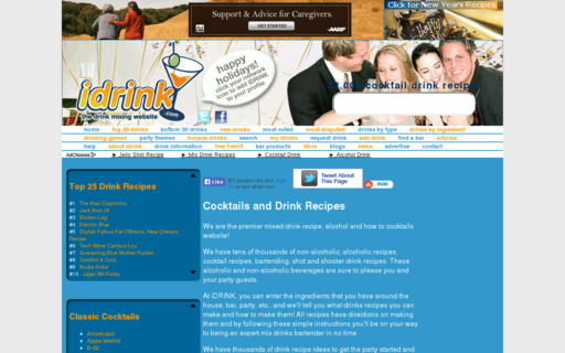Access idrink.com using Hola Unblocker web proxy