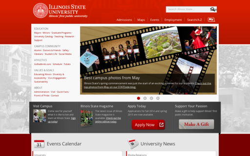 Access illinoisstate.edu using Hola Unblocker web proxy