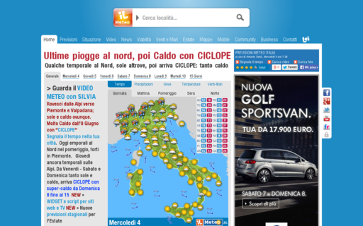 Access ilmeteo.it using Hola Unblocker web proxy