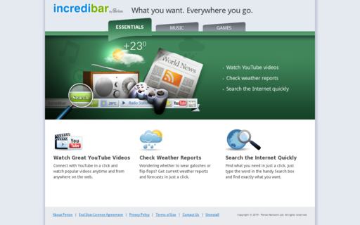 Access incredibar.com using Hola Unblocker web proxy