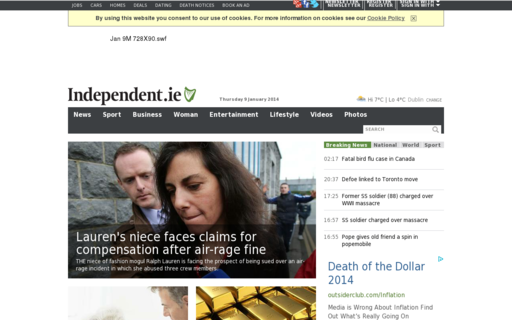 Access independent.ie using Hola Unblocker web proxy