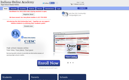 Access indianaonlineacademy.org using Hola Unblocker web proxy