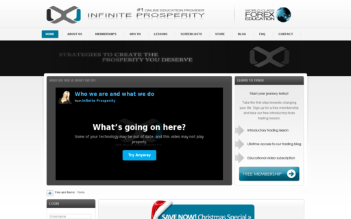 Access infinite-prosperity.com using Hola Unblocker web proxy