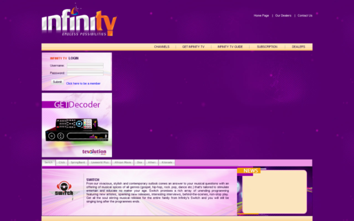 Access infinitytv.info using Hola Unblocker web proxy