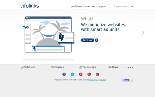 Access infolinks.com using Hola Unblocker web proxy