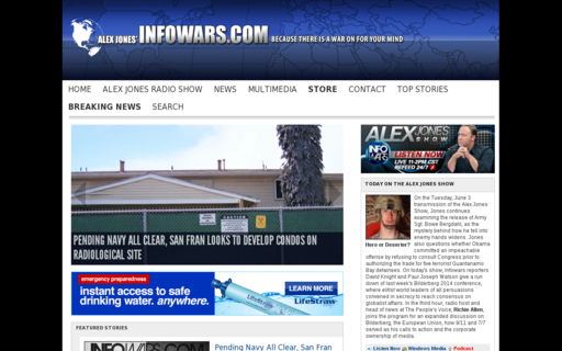 Access infowars.com using Hola Unblocker web proxy