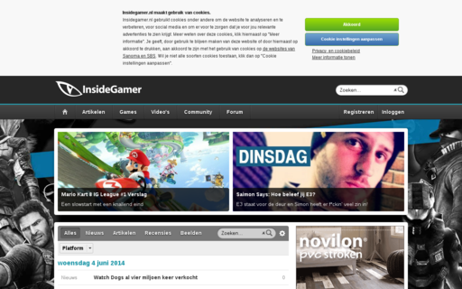 Access insidegamer.nl using Hola Unblocker web proxy