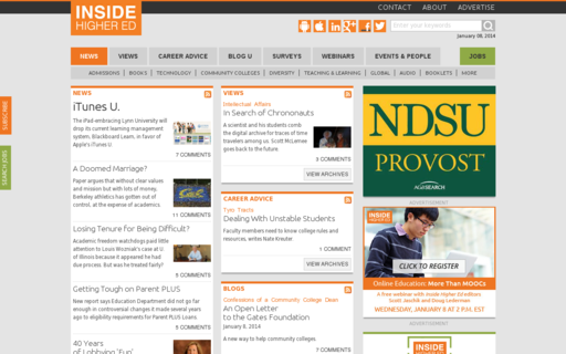 Access insidehighered.com using Hola Unblocker web proxy