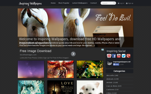 Access inspiringwallpapers.net using Hola Unblocker web proxy