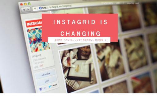 Access instagrid.me using Hola Unblocker web proxy