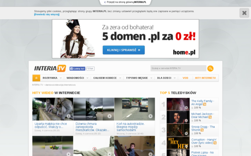 Access interia.tv using Hola Unblocker web proxy