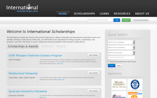 Access internationalscholarships.com using Hola Unblocker web proxy