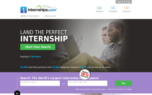 Access internships.com using Hola Unblocker web proxy