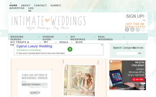 Access intimateweddings.com using Hola Unblocker web proxy