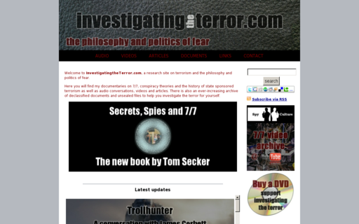 Access investigatingtheterror.com using Hola Unblocker web proxy