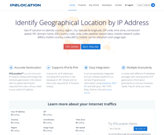 Access ip2location.com using Hola Unblocker web proxy