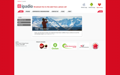 Access ipadio.com using Hola Unblocker web proxy