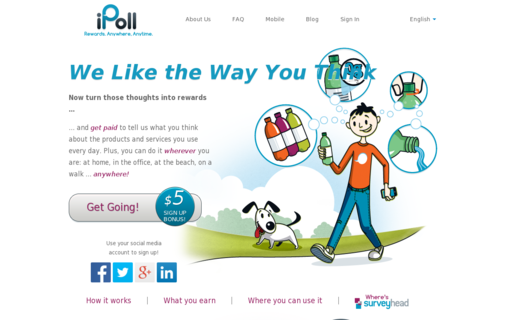 Access ipoll.com using Hola Unblocker web proxy