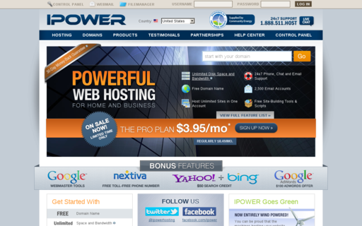 Access ipower.com using Hola Unblocker web proxy