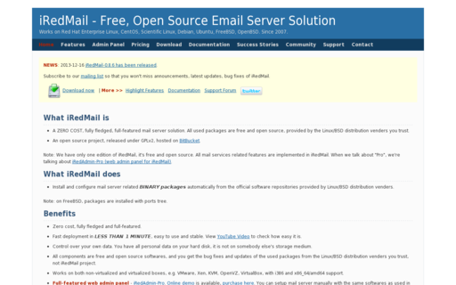 Access iredmail.org using Hola Unblocker web proxy