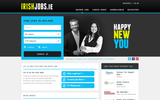 Access irishjobs.ie using Hola Unblocker web proxy
