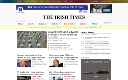 Access irishtimes.com using Hola Unblocker web proxy