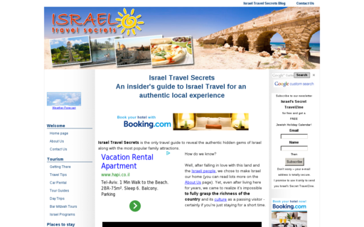 Access israel-travel-secrets.com using Hola Unblocker web proxy