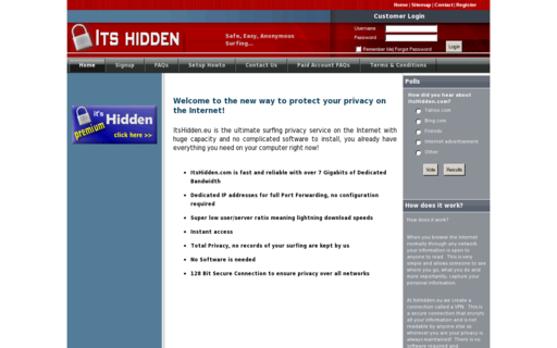 Access itshidden.com using Hola Unblocker web proxy