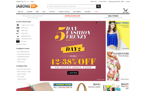Access jabong.com using Hola Unblocker web proxy