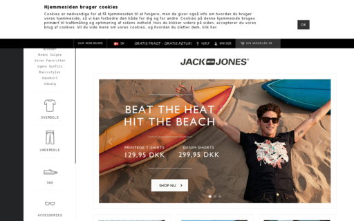 Access jackjones.dk using Hola Unblocker web proxy