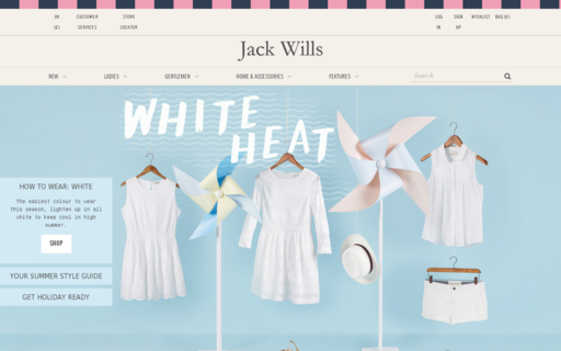 Access jackwills.com using Hola Unblocker web proxy